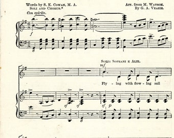 """1890 Supplementary Music For Public Schools, The Coda, """"Anchored"""""""