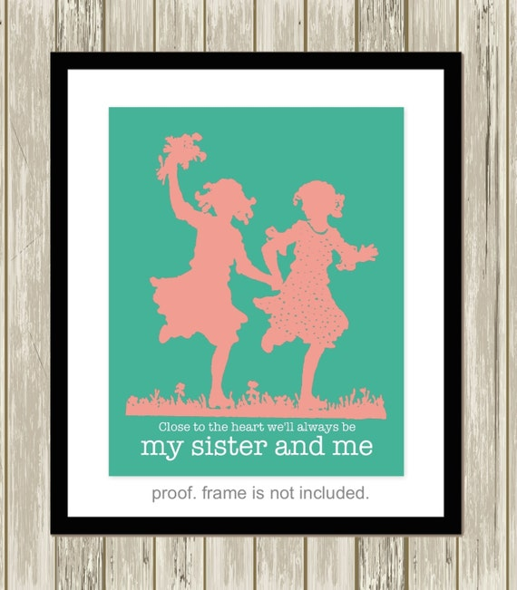 Wall Art Quotes For Sisters : Twin sisters art quotes siblings wall