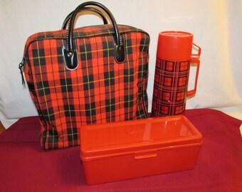 ALADDIN PICNIC BAG Plaid Lunch Kit