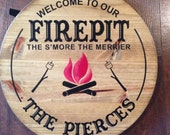 The S'more The Merrier Rustic Firepit Sign
