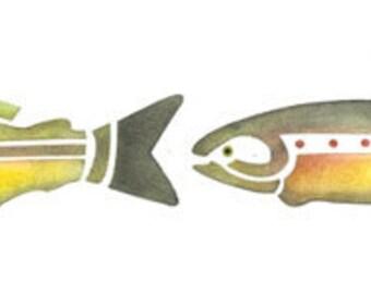 Fish Border Stencil