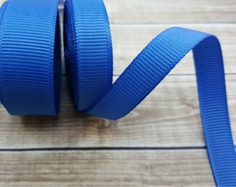 3/8 or 5/8 inch ROYAL BLUE grosgrain ribbon
