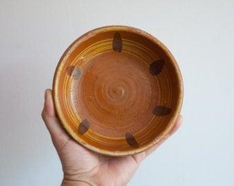 Antique Bulgarian Ceramic Bowl, Handpainted Pottery Bowl, Bulgarian Troyan Pottery, Antique Dish, Home Decor Housewares