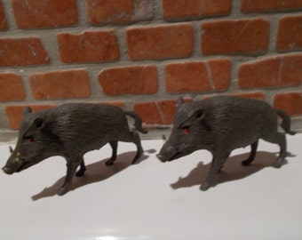 Britains Toys 1970's Pair Of Wild Boars