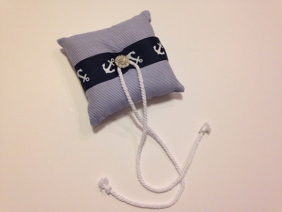 Nautical wedding dog ring bearer pillow for Dog wedding ring bearer pillow
