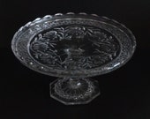 Vintage, Small Glass Cake Stand