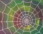 Painting Spider Web Oil o...