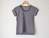 vintage black and grey graphic geometric grunge tshirt 90s // S-M