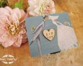 Blue Ring Bearer Box Rustic Wedding Woodland Wooden box Gift box Wedding decor gift idea