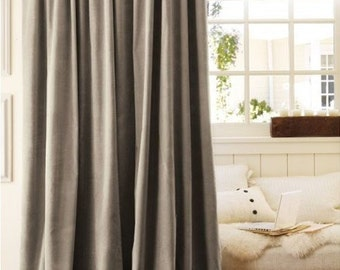 Luxury Velvet Curtains, Emerald Green Velvet, Window Treatments-Drape-Velvet Window Treatments-Curtains, Cafe Curtains, Valanes