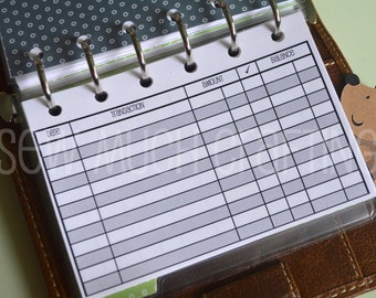 Printed Pocket Size Checkbook Register Style Inserts