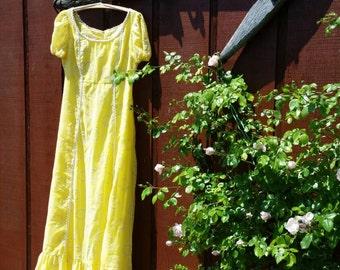 70's JC PENNEY Fashions Hippie/Sun Dress • Granny/BoHo/Festival