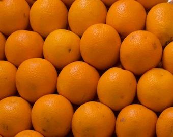 Photo Print - Oranges, Fruit Photos, Farmers Market