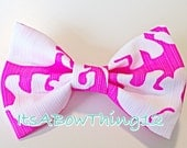 Lilly Pulitzer Pop Pink Tusk in the Sun Elephants Preppy Fabric Bow