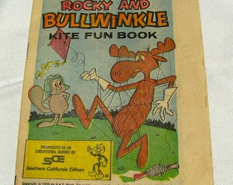20% off! Rocky and Bullwinkle Comic Book/Kid's Activity Book from Southern California Edison, 1970. Was 18.00 now 14.40