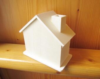 DIY Wood Money Box, Dream House, Wood Craft, Craft supply, Custom Wood House, Doll House, wood burn, ShineKidsCrafts