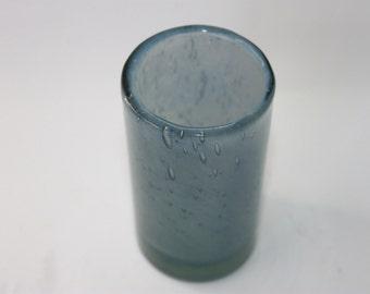 Blue bubbled bubbly glass vase, Scandinavian Randsfjordglass Benny Motzfeldt, 1960s Norway
