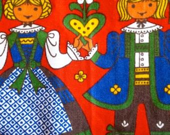 Vintage apron, 1950's cooks apron, red apron, kolf, made in Austria, hostess gifts, cotton apron, vintage apron, Austrian folk art, kitchen