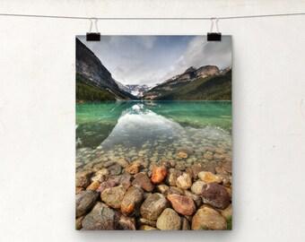 Lake Louise Photo, Alberta Canada, Landscape, Rocky Mountains, Glacier
