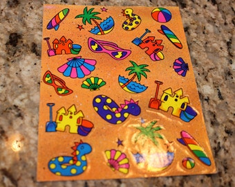Vintage Lisa Frank Beach Stickers S126