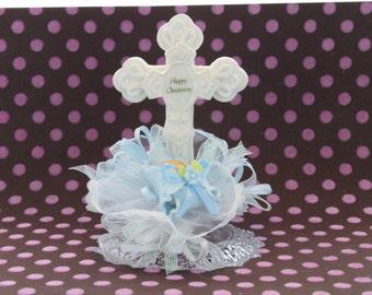 Christening Baby Boy Cake Topper / Decoration