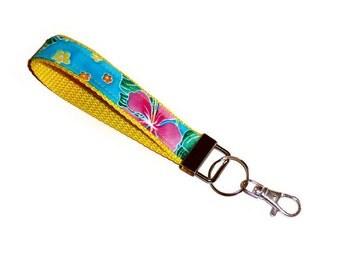 Key Fob, Wristlet, Key Chain Wristlet, Fabric Key Fob