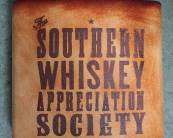 Southern Whiskey Leather Flask