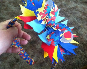Autism headband / Hairbow