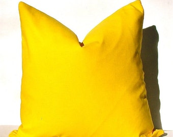 20x20 Pillow Cover. Corn Yellow Pillow Cover. Solid Linen pillow cover. Throw Pillow