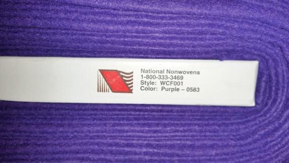 Wool Felt Purple Sold By The Half Yard Bthy From