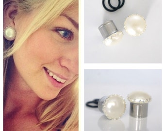 """White Pearl Plugs 8g-1""""  Cute Gauges 2mm-25mm"""