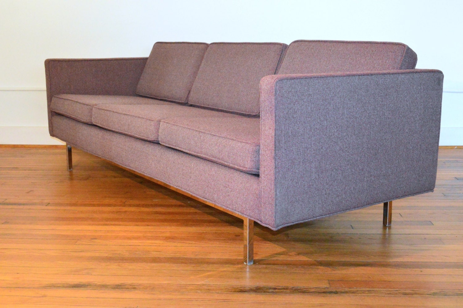 Milo Baughman For Thayer Coggin Sofa With Chrome Legs