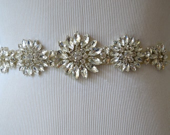 Bridal Belt /Sash Wedding Sash/Belt,Bridal Sash,Rhinestone Sash,Beaded Sash,-Ivory Wedding Sash