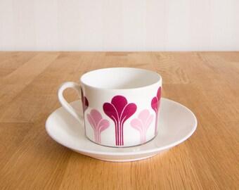 Gustavsberg Krokus tea cup and saucer by Margareta Hennix