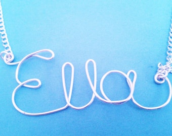 Personalised Wire Name Necklace