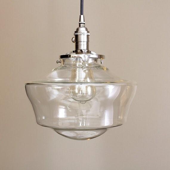 large schoolhouse pendant light fixture glass globe sale coupon. Black Bedroom Furniture Sets. Home Design Ideas