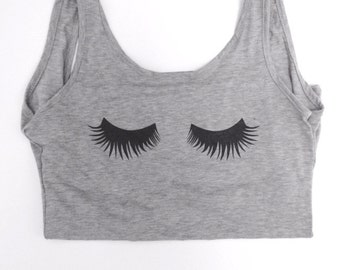 Perfect eyelashes full open back tank top shirt tank top perfect for summer