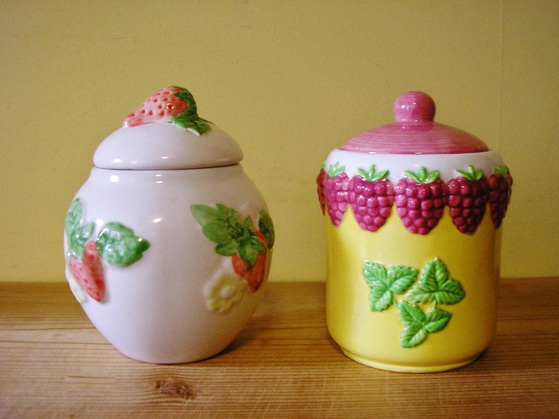 50 sale 2 vintage irish ceramic jam pots preserve jars silea. Black Bedroom Furniture Sets. Home Design Ideas