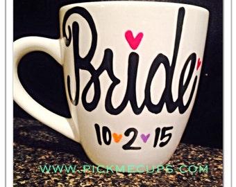 bride mug - wedding - maid of honor - bridesmaid mugs wedding gift bachelorette gift