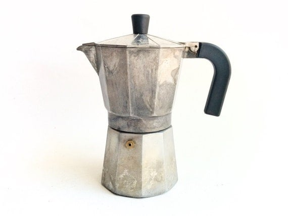 Coffee Maker En Espanol : Vintage Coffee Maker Express Coffee Stove top Espresso