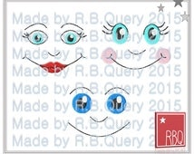 Embroidery Design Doll Faces 4x4 - Zip File