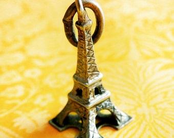 Vintage 3D Eiffel Tower Paris France 800 Silver Travel Charm