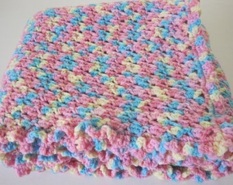 Crochet, Baby Blanket, Newborn, Baby Girl, Baby Boy, Bright Colors, Baby Afghan, Baby Shower Gift