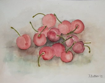 Cherries - Watercolor Original
