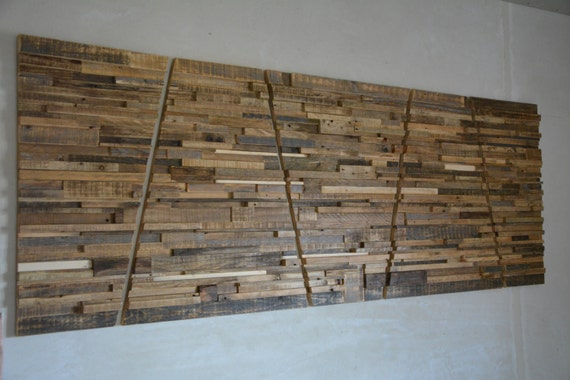 Items similar to large reclaimed wood wall art 80quot x 30 for Barnwood pieces
