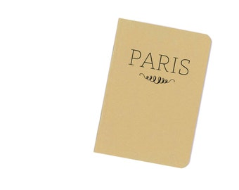Paris notebook - travel journal - France - French