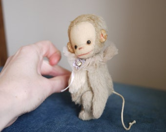 "PDF E-PATTERN for Tiny Viscose Monkey 4.5""- 5"""