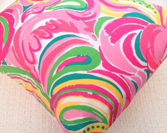 Lilly Pulitzer Pillow! Multi All Nighter! INSERT INCLUDED!!