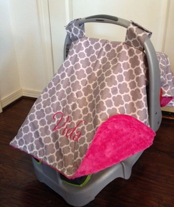 personalized carseat canopy car seat cover canopy for girls. Black Bedroom Furniture Sets. Home Design Ideas
