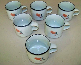 Dansk La Tulipe Grey Set Of Six Cups
